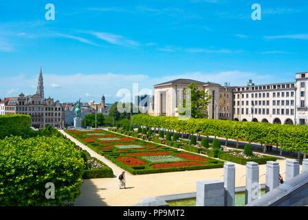 Park Mont des Arts, Brussels, Belgium - Stock Photo