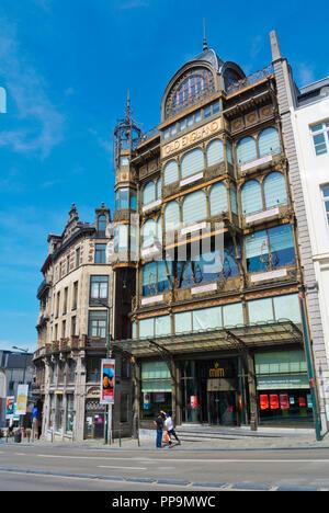 Musee des Instruments de Musique, Music intrument museum, Old England building, Royal district, Brussels, Belgium - Stock Photo