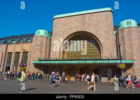 Helsingin rautatieasema, central railway station, Helsinki, Finland - Stock Photo
