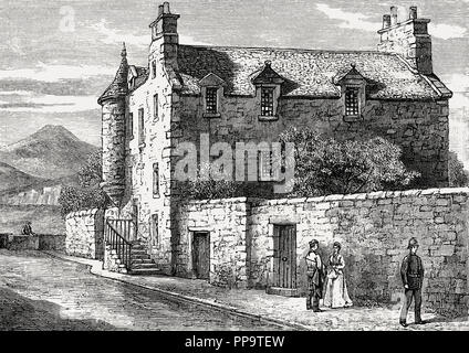 Croft an Righ House, Scots Renaissance mansion house, Edinburgh, Scotland, 18th century - Stock Photo