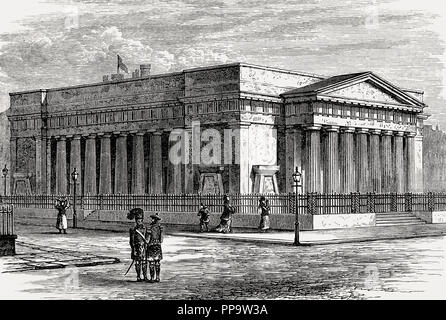 Royal Institution or Royal Scottish Academy, Edinburgh, Scotland, 19th century - Stock Photo