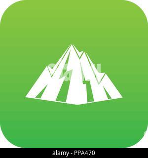Rock icon digital green - Stock Photo