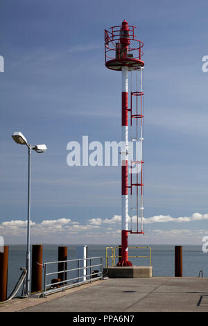 Sea mark at the harbor of List, Sylt, North Frisian Island, North Frisia, Schleswig-Holstein, Germany, Europe - Stock Photo