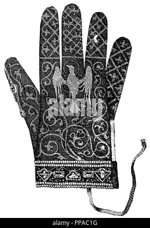 Roman Emperor of the German Nation: Imperial Glove, - Stock Photo
