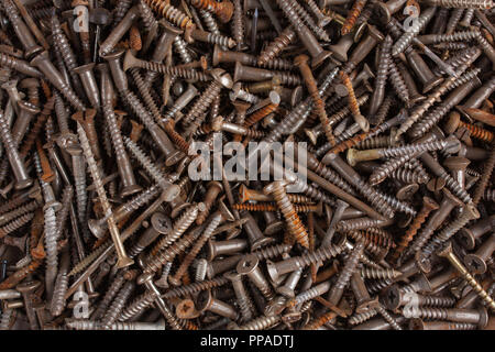 Background of a lot of rusty screws - Stock Photo