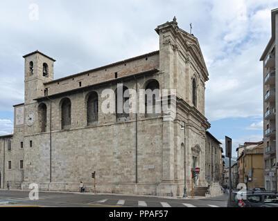 Italy Marche Ascoli Piceno church 2 - Stock Photo