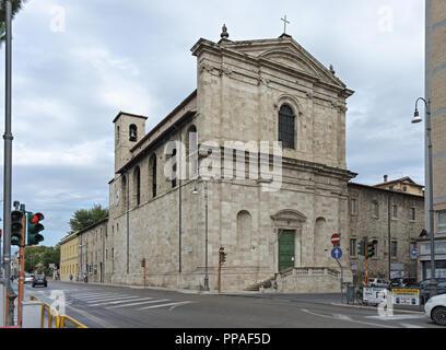 Italy Marche Ascoli Piceno church - Stock Photo