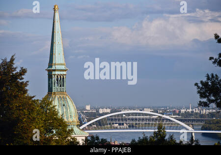 Apollo Bridge, Bratislava, Slovakia - Stock Photo