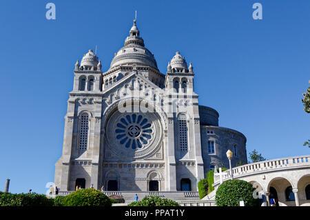 The Santuario de Santa Luzia, Viana do Castelo, Portugal - Stock Photo