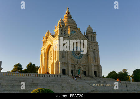 The Santuario de Santa Luzia, Viana do Castelo, Portugal - Stock Photo