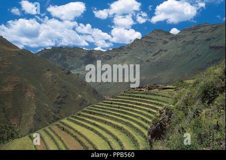 Peru Panorámica De Los Campos De Cultivo En La Zona Próxima