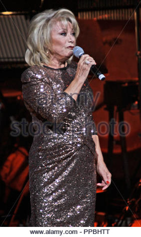 Elaine Paige brings her 'Page By Page By Paige - Farewell Tour' to the Bridgewater Hall, Manchester ending her 50th Aniiversary in show business on Sunday 12 October 2014 - Stock Photo