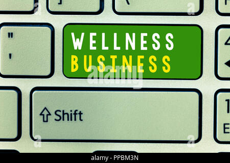 Handwriting text Wellness Business. Concept meaning Professional venture focusing the health of mind and body. - Stock Photo