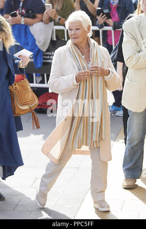 San Sebastian, Spain. 25th Sep, 2018. JUDY DENCH is seen arriving at Maria Cristina Hotel during 66th San Sebastian Film Festival in San Sebastian, Spain. Credit: Jack Abuin/ZUMA Wire/Alamy Live News - Stock Photo