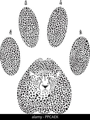 Cheetah footprint - Stock Photo