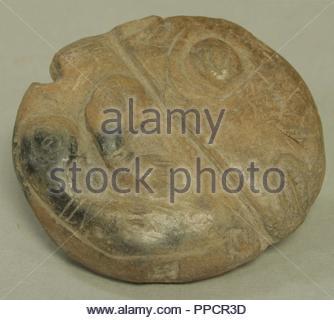 Stone Object with Relief Figures, before 16th century, Ecuador, Ecuador, Ceramic, H. 2 in. (5.1 cm), Ceramics-Ornaments. - Stock Photo
