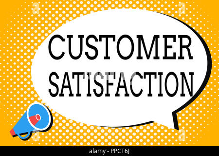Word writing text Customer Satisfaction. Business concept for Exceed Consumer Expectation Satisfied over services. - Stock Photo
