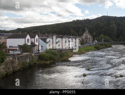 The town of Langholm where the local community are growing chillis as a community. - Stock Photo