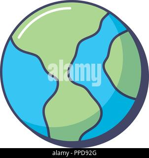 world planet geography earth sphere innovation vector illustration - Stock Photo