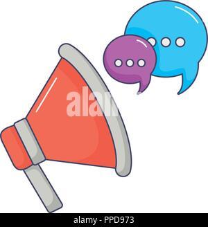 megaphone marketing speaker speech bubble innovation vector illustration - Stock Photo