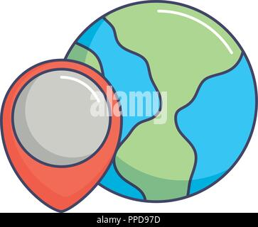 world planet location pointer map innovation vector illustration - Stock Photo