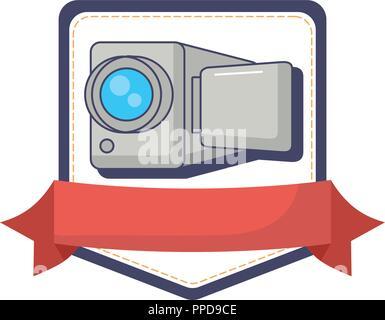 camera record video device technology innovation innovation vector illustration - Stock Photo