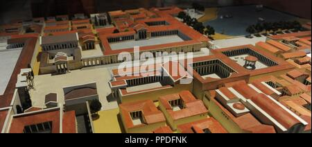 Model of the town centre of Miletus at 200 AD.. Copy by K. Stephanowitz (1968) after the original by H. Schleif. Detail. Pergamon Museum. Berlin. Germany. - Stock Photo