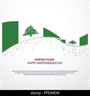 NJorfolk Island Happy independence day Background - Stock Photo
