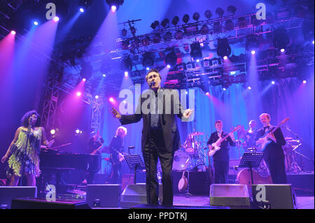 Bryan Ferry feat The Bryan Ferry Orchestra live at the Tollwood Festival in Munich on 03.07.2013. - Stock Photo