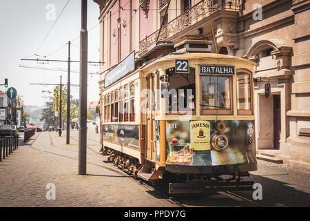 The Heritage tram 22, Porto, Portugal - Stock Photo
