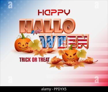 Autumn, celebration of Halloween in America - Stock Photo