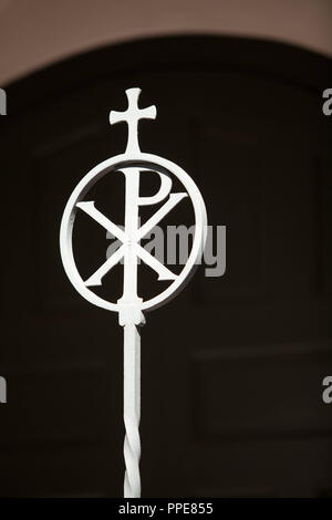 The Chi Rho Symbol On The Evangelical Lutheran Erloserkirche In