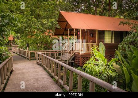 Aninga Evergreen Lodge, Guesthouse-Tortuguero National Park, Costa Rica - Stock Photo