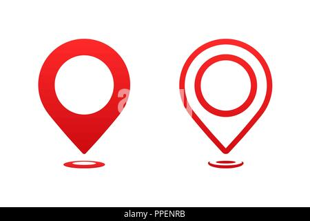 Icons map pointer. Pointer pin marker for travel place vector illustration. GPS navigation. - Stock Photo