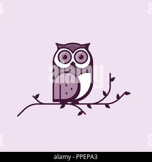 Owl line style illustration - Stock Photo