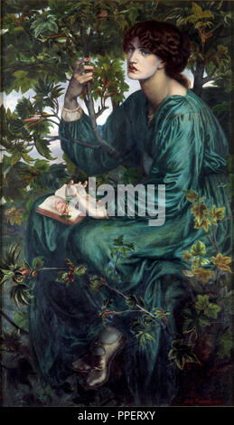 The Day Dream. Date/Period: 1880 (painted) - 1880. Oil painting. Oil on canvas. Author: Dante Gabriel Rossetti. ROSSETTI, DANTE GABRIEL. - Stock Photo