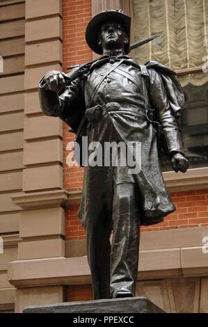1st Regiment Infantry National Guard of Philadelphia or Spirit of '61. Bronze statue by the American sculptor Henry Kirke Bush-Brown (1857-1935). Philadelphia. Pennsylvania, USA. - Stock Photo