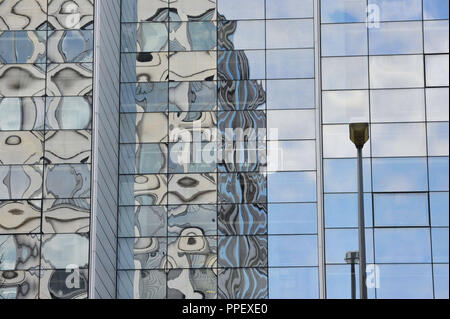 Architecture in Munich: The 'Nymph' building complex at the Nymphenburgerstrasse 3/5. - Stock Photo