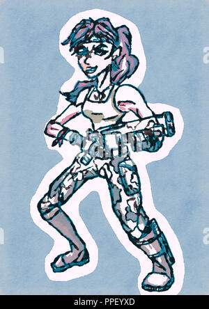 character design illustration Stock Photo