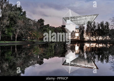 Cork, Ireland. 23rd August, 2017.Pairc Ui Chaoimh  reflected in the  Atlantic Pond near the Marina Cork. - Stock Photo