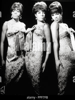 American female singing group, The Supremes. Diana Ross, Florence Ballard and Mary Wilson. - Stock Photo
