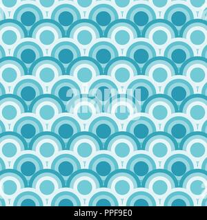 Abstract of simple blue round wave pattern, vector eps10 - Stock Photo