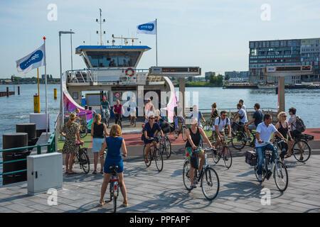Amsterdam, Fähre über den Ij - Stock Photo