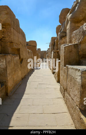 The Karnak Temple Complex, also known as The Temple of Karnak, in Thebes, Luxor, Egypt - Stock Photo