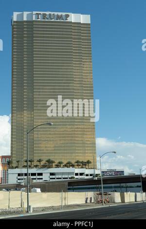 Trump Hotel in Las Vegas Nevada - Stock Photo
