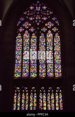 Köln, Richter-Fenster, modernes Kirchenfenster im Kölner Dom - Stock Photo