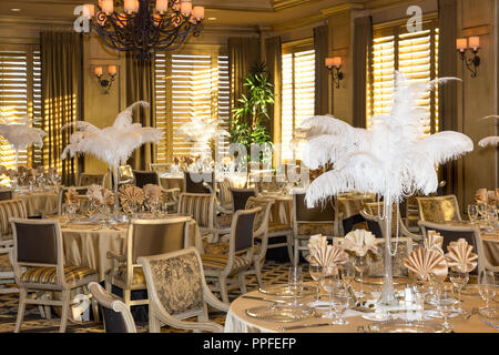 'The Great Gatsby' themed party decor, Naples, Florida, USA - Stock Photo