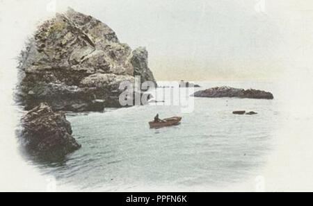vintage style beautiful landscape painting Stock Photo