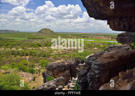 Stunning View from Anjalak Hill, near Gunbalanya over Arnhem Land, Northern Territory, Australia - Stock Photo