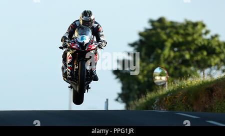 Michael Dunlop Isle of Man TT Practice 2016 - Stock Photo